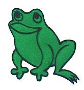 Satin Frog Iron-On Applique