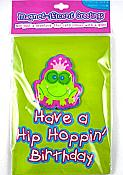 Crowned Frog Birthday Card with Magnet