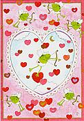 """My Heart Jumps for You"" Frog Valentine Card"