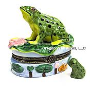 Spotted Frog Porcelain Box