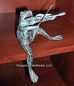 Metal Frog with Violin Shelf Sitter