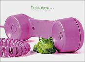 """Talk is cheap..."" Frog Birthday Card"