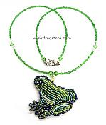Beaded Frog Necklace