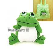 Fold-In Plush Frog Tote Bag