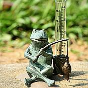 Frog Fisherman Rain Gauge