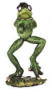 Dancing Frog Figurine