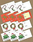 Frog Holiday Gift Tags, pk/12