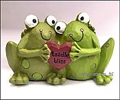 Toadle Bliss Loving Frog Couple