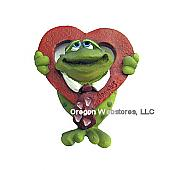 Frog With Heart Magnet