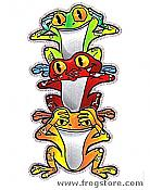 No Evil Frogs Sticker