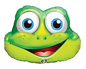 Giant Funny Frog-Face Mylar Balloon
