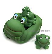 Floating Frog Family Bath Toys