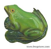 Green Frog on Lily Pad Wall Decoration