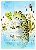 """Be Mine"" Frog Love Card"