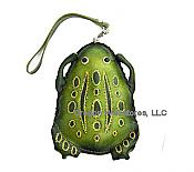 Leather Frog Shaped Wristlet Purse