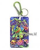 3-D Peace Frog Keychain/Bag Tag