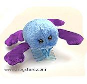 Blue / Purple Plush Frog Hairclip