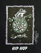 Bergsma: Frog Black Tee: Large