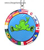 Peace Frogs: Around the World Ornament