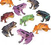 "Dozen Colorful 3"" Frogs"