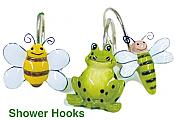 Froggy Friends Shower Curtain Hooks