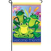 Garden Frogs Garden Flag