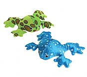 Four Plush Waterspot Frogs