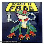 """Beware of Frog"" Art Tile"