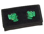 Embroidered Frog Wallet