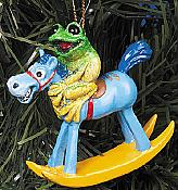 Kitty's Critters Frog Ornament: Clem