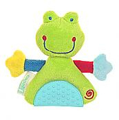 Plush Frog Teething Rattle