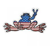 Peace Frogs: American Peace Sticker (Small)