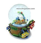 Jungle Frogs Sno-Globe