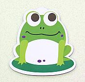 Rectangle Refrigerator Magnet Chillin Froggy Funny Tree Frog Sitting w//Phone /& Drink