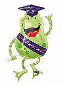 Giant Graduation Frog Mylar Balloon