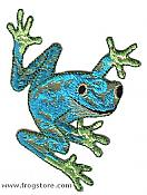 Blue & Green Frog Wild Iron-On