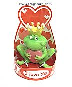 """I Love You"" Prince Frog with Heart"