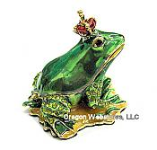 Royal Frog Prince Enamel & Jewel Box