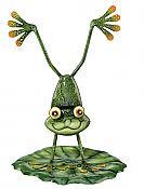 Metalwork Handstand Frog Garden Decor