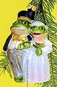 Frog Bride & Groom Ornament