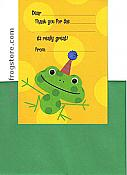 Frogs in Party Hats Thank-You Notes