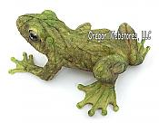 Large Green Leaf Design Frog