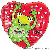 Kiss a Frog Mylar Balloon
