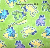 Playful Green Frog Fleece Throw