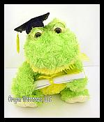 Curly Plush Big Graduation Frog