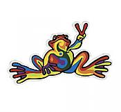 Peace Frogs: Retro Peace Sticker (Small)
