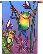 Rainforest Treefrogs House Flag