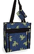 Tapestry Frog Tote w/Coin Purse