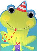Frog in Party Hat Birthday Card