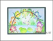 Rainbow Frogs Matted Print